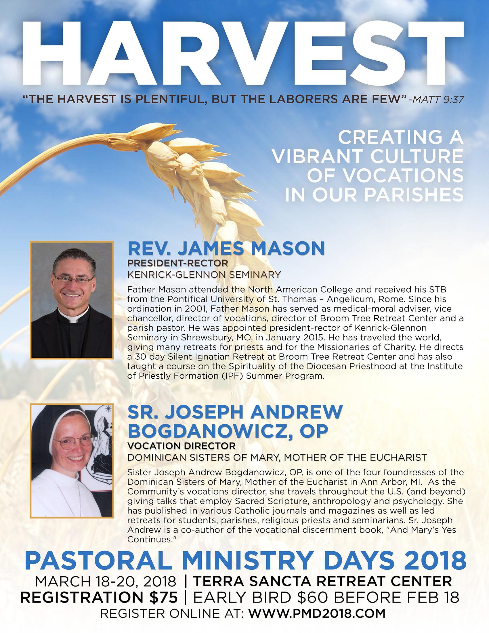 pdm harvest informational flyer diocese of rapid city