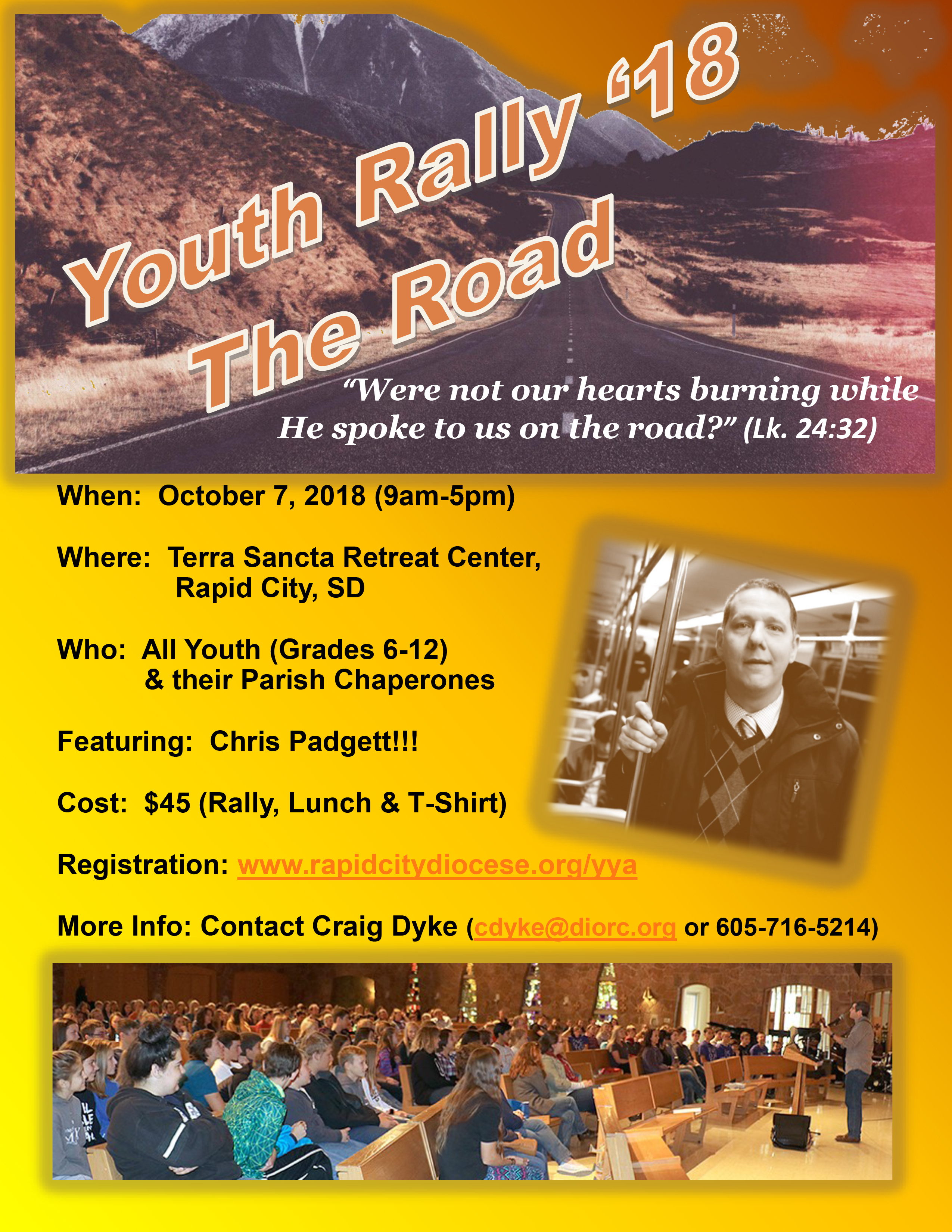 youth rally flyer 2018 diocese of rapid city